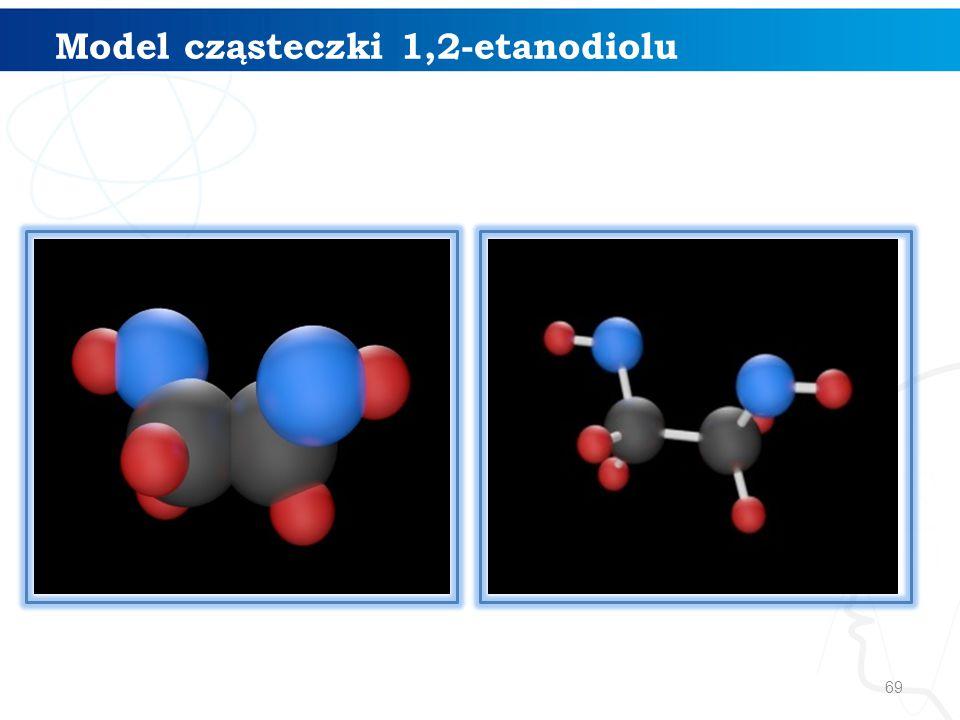 69 Model cząsteczki 1,2-etanodiolu