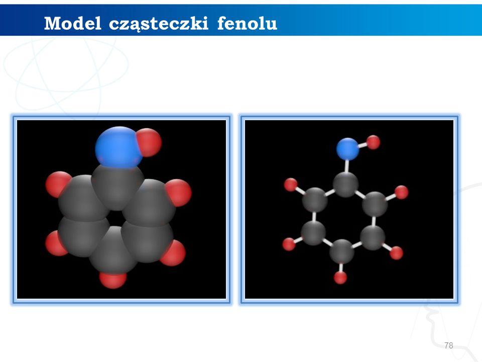 78 Model cząsteczki fenolu