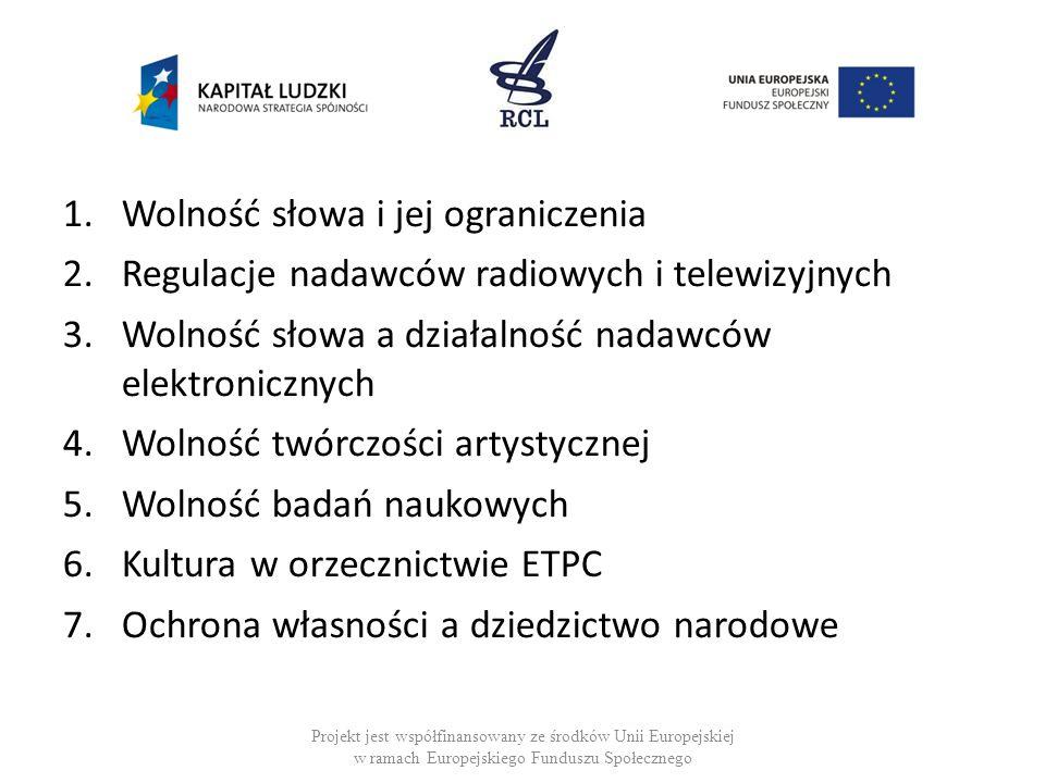 Naruszenia art.10 EKPC 1959-2013: 544 wyroków z art.