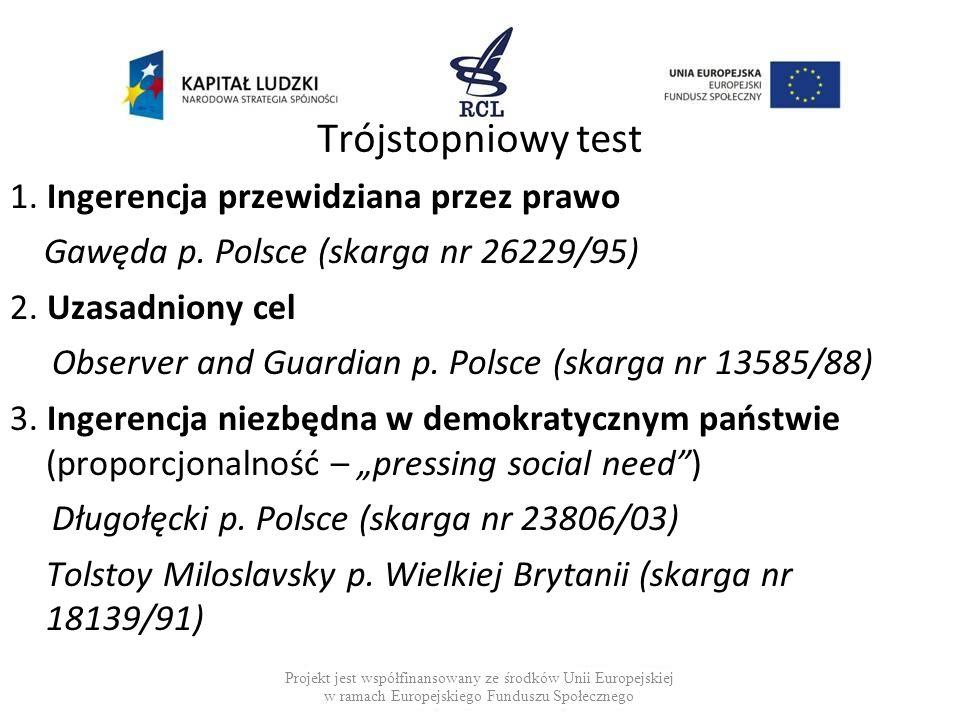 Dziękujemy za uwagę a.bodnar@hfhr.org.pl d.bychawska@hfhr.org.pl Projekt jest współfinansowany ze środków Unii Europejskiej w ramach Europejskiego Funduszu Społecznego