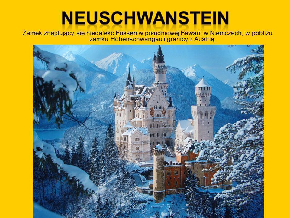 Zamek znajdujący się niedaleko Füssen w południowej Bawarii w Niemczech, w pobliżu zamku Hohenschwangau i granicy z Austrią.