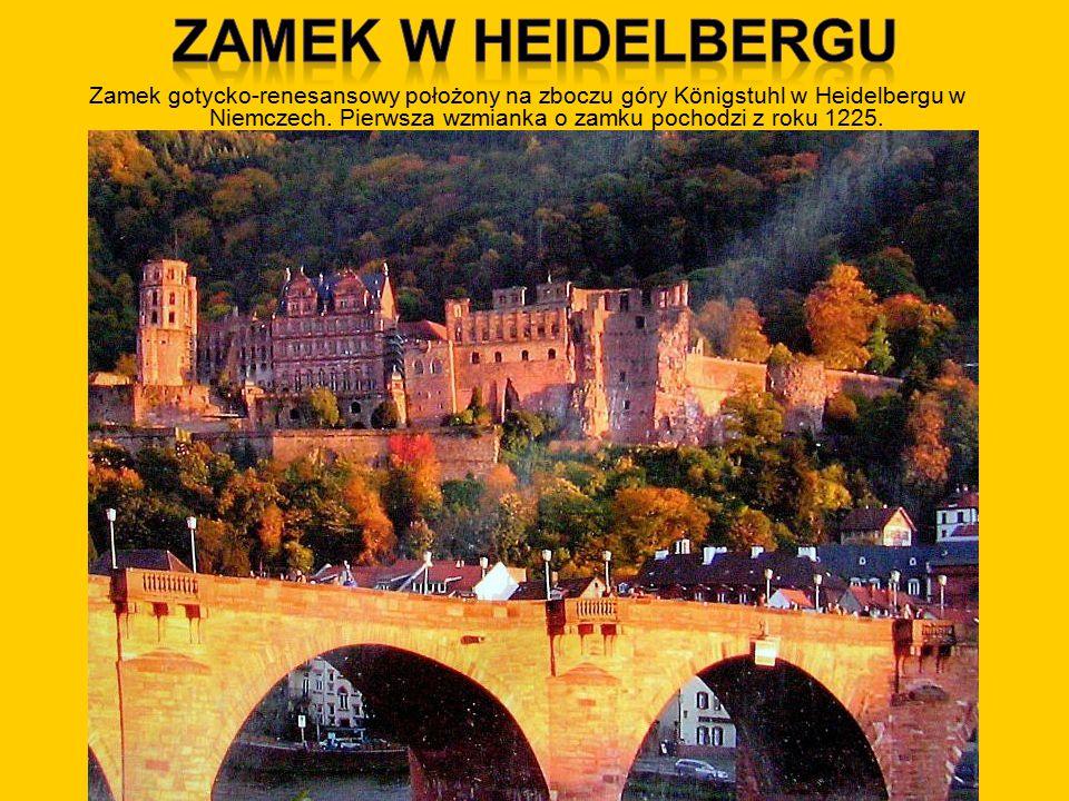 Zamek gotycko-renesansowy położony na zboczu góry Königstuhl w Heidelbergu w Niemczech.