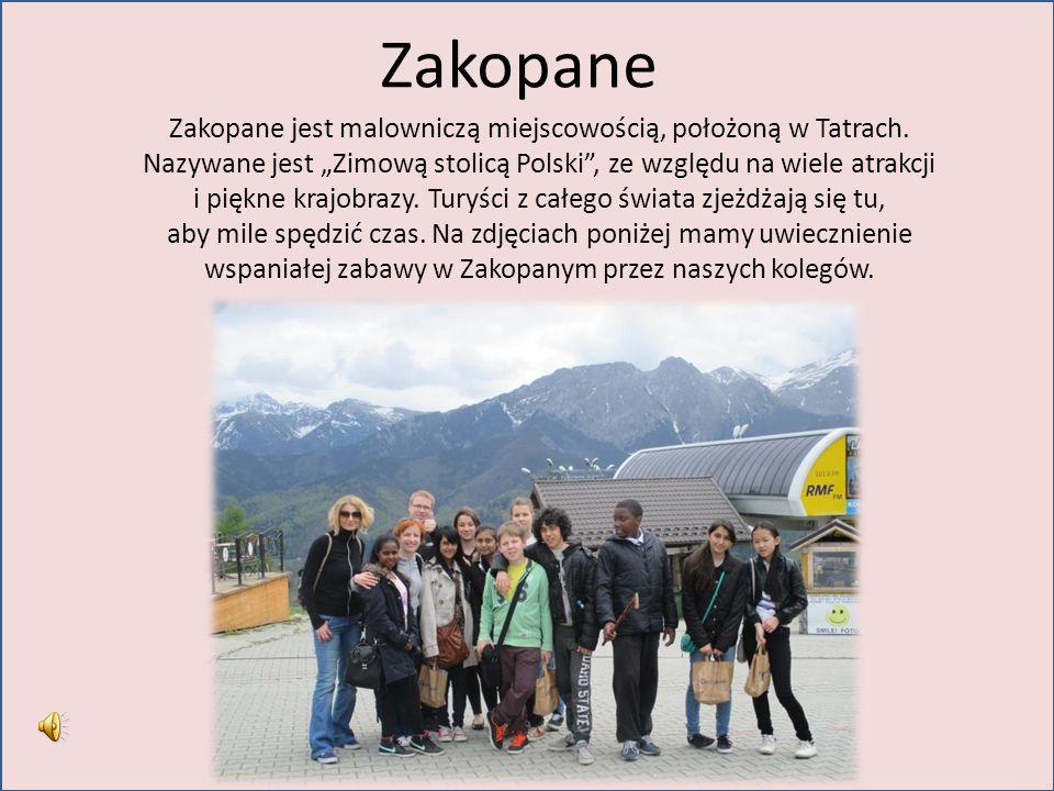 Zakopane Zakopane jest malowniczą miejscowością, położoną w Tatrach.