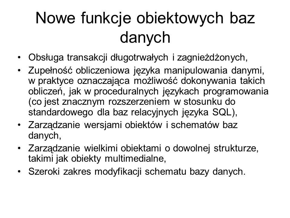 nr_ul id1 id2 nazwisko imię adres NowakJanKłosJerzy miasto kod ulica nr_ul Olsztyn10-900Wąska12 Olsztyn10-900Wąska12 Obiekty z osadzonymi identycznymi adresami – graf kompozycji Różnice w zawartościach obu baz zobrazowano w grafach kompozycji dwóch obiektów O1 i O2 klasy Osoba, o identyfikatorach odpowiednio O1 i O2 mieszkających pod tym samym adresem.