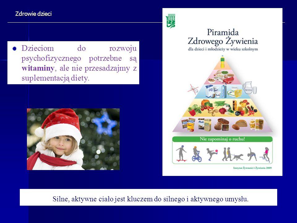Dzieciom do rozwoju psychofizycznego potrzebne są witaminy, ale nie przesadzajmy z suplementacją diety. Silne, aktywne ciało jest kluczem do silnego i