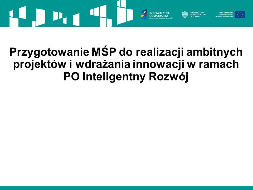 Przygotowanie MŚP do realizacji ambitnych projektów i wdrażania innowacji w ramach PO Inteligentny Rozwój