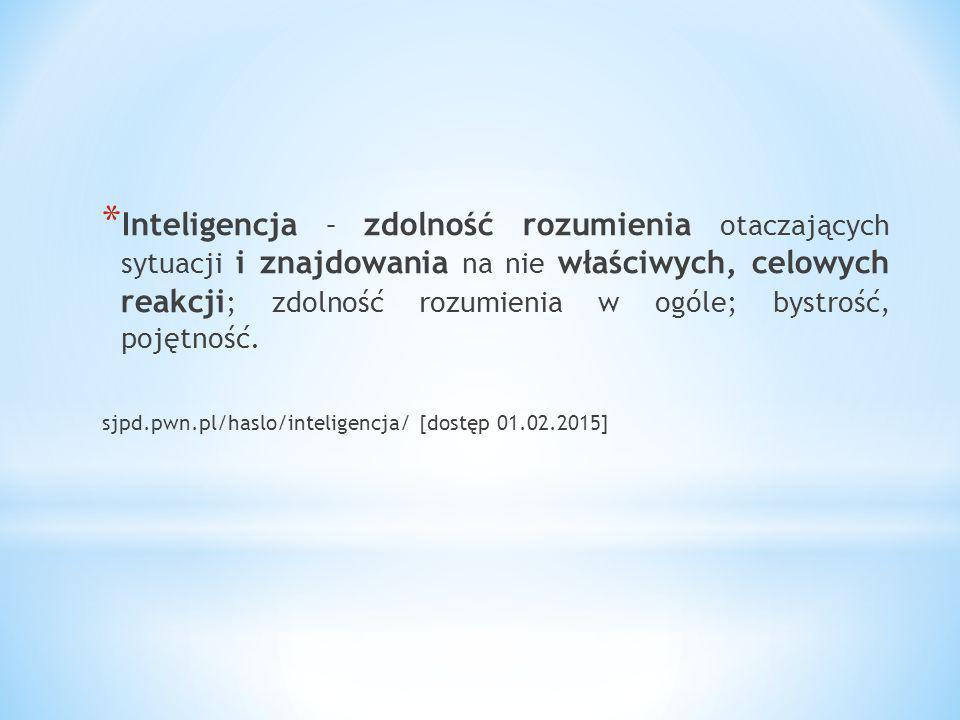 * Inteligencja (od łac.