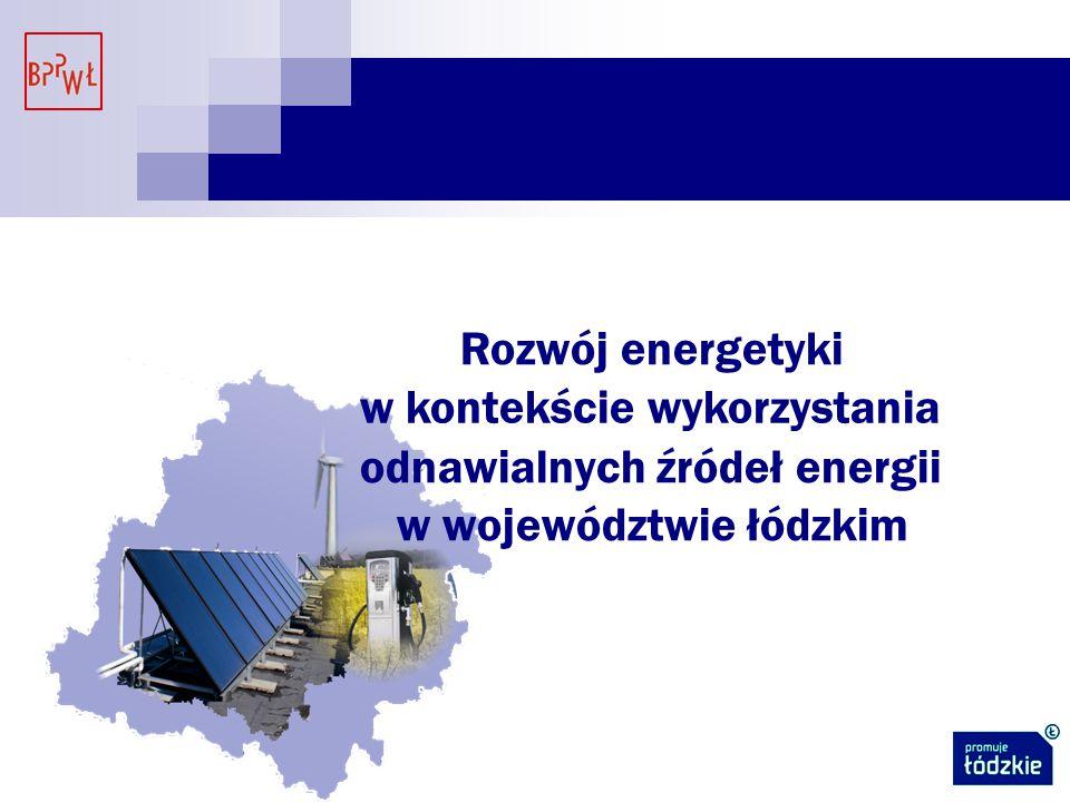 Rozwój energetyki w kontekście wykorzystania odnawialnych źródeł energii w województwie łódzkim