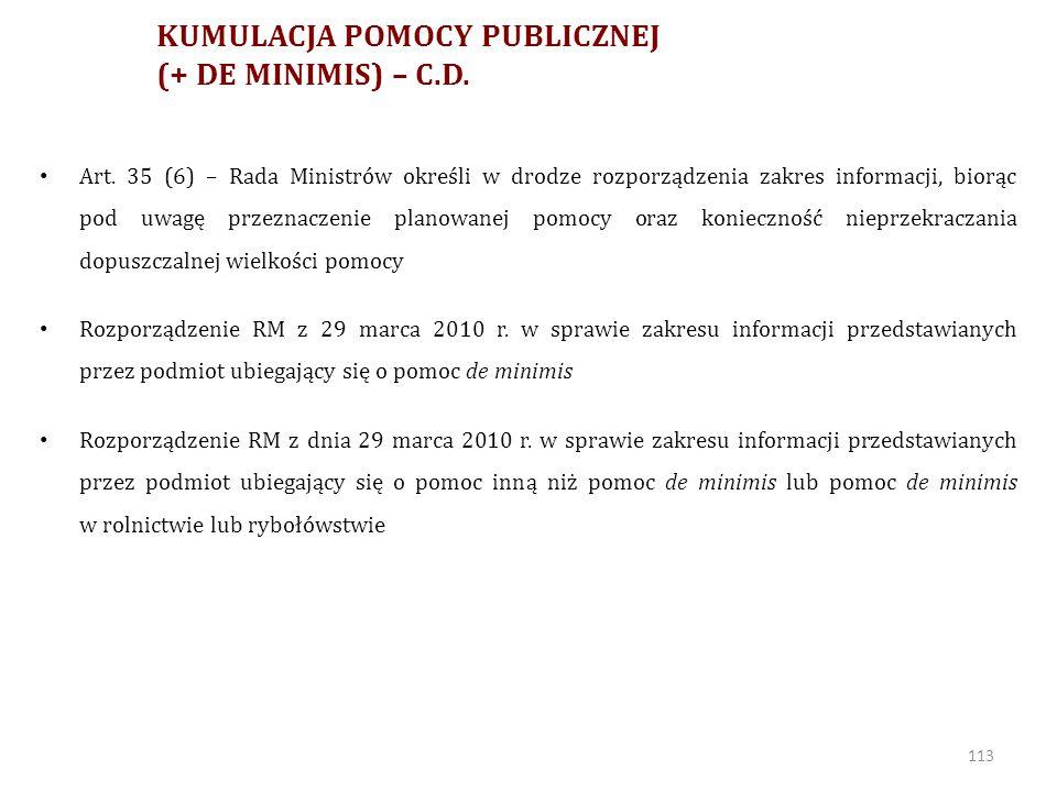 Nowy de minimis ROZPORZĄDZENIE KOMISJI (UE) NR 1407/2013 z dnia 18 grudnia 2013 r.