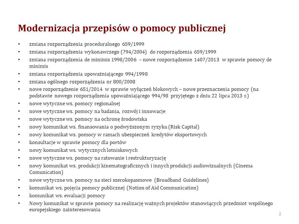 Zakres zmian W dniu 8 maja 2012 r.Komisja Europejska opublikowała dokument pn.