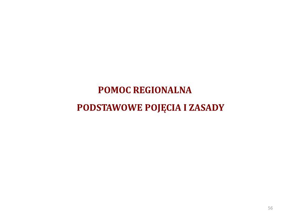POMOC REGIONALNA Zgodnie z art.107 ust. 3 lit a.
