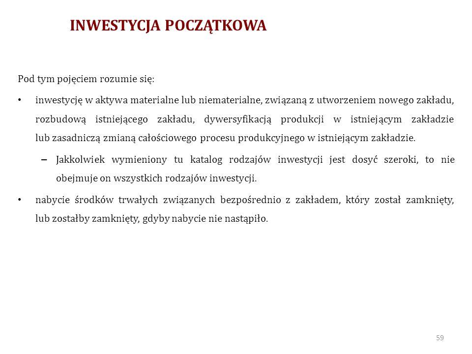 INWESTYCJA POCZĄTKOWA C.D.
