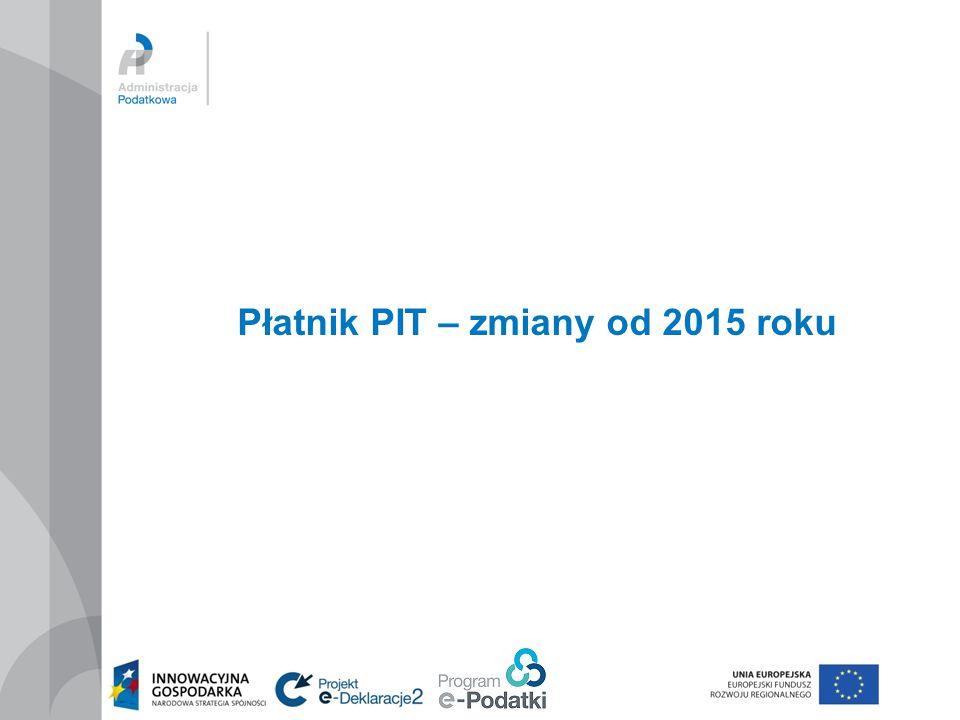 Płatnik PIT – zmiany od 2015 roku