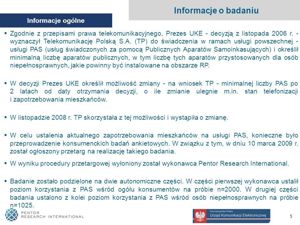 5 Informacje ogólne  Zgodnie z przepisami prawa telekomunikacyjnego, Prezes UKE - decyzją z listopada 2006 r.