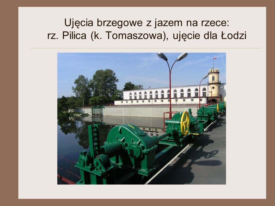 Ujęcia brzegowe z jazem na rzece: rz. Pilica (k. Tomaszowa), ujęcie dla Łodzi