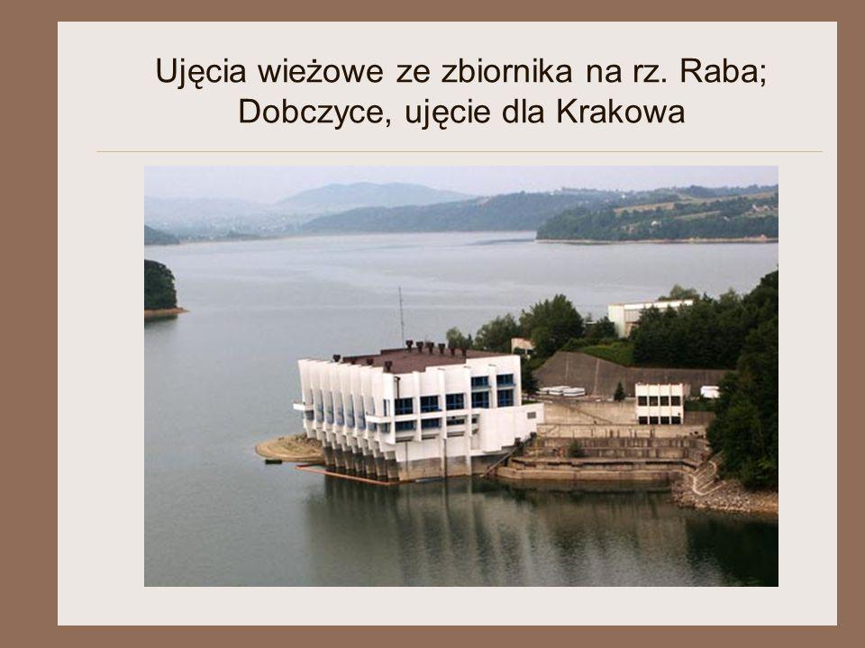 Ujęcia wieżowe ze zbiornika na rz. Raba; Dobczyce, ujęcie dla Krakowa