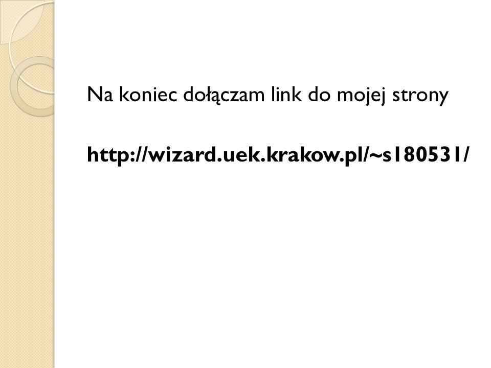 Na koniec dołączam link do mojej strony http://wizard.uek.krakow.pl/~s180531/