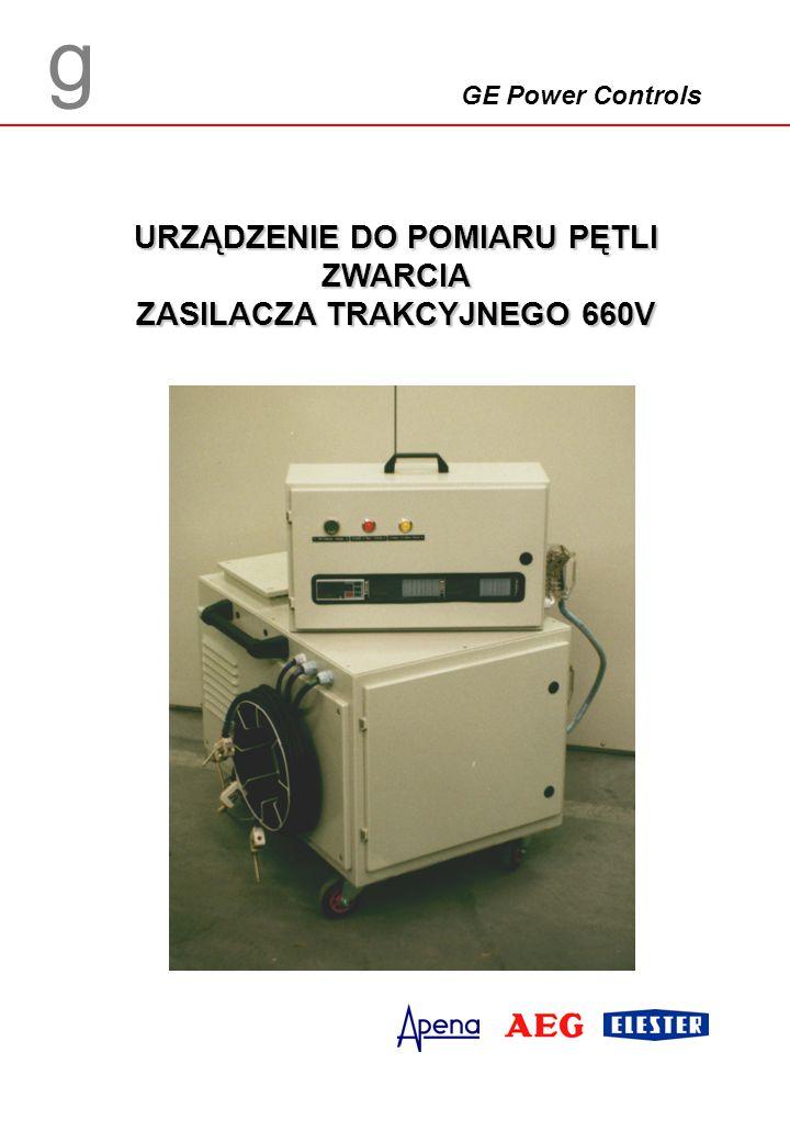 Zastosowanie Urządzenie przeznaczone jest do pomiaru rezystancji pętli zwarcia zasilacza trakcyjnego 660 V prądu stałego w sieciach trakcji tramwajowej (rys.