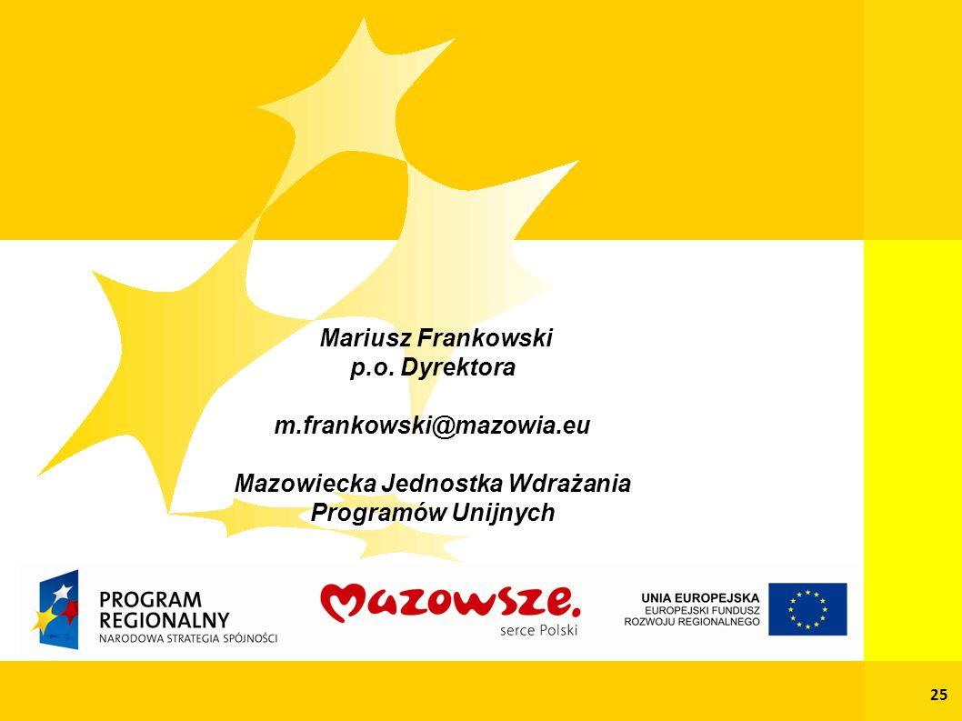 Mariusz Frankowski p.o.