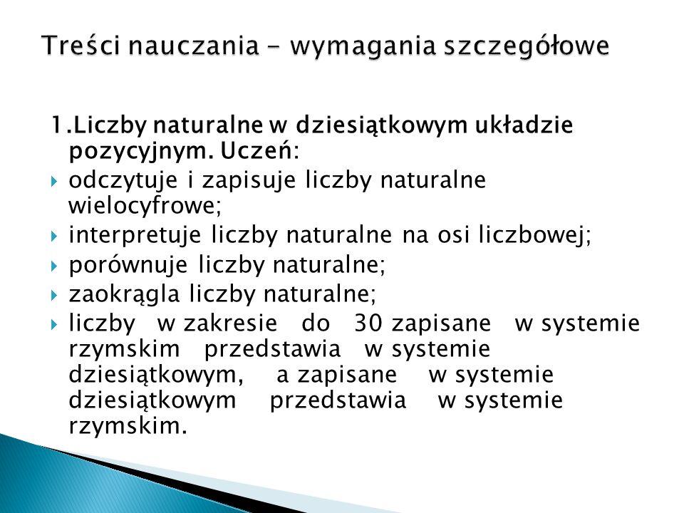 2.Działania na liczbach naturalnych.