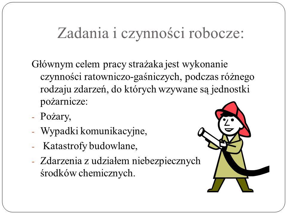 W tym zawodzie można wyróżnić dwa stanowiska : ratownik i młodszy ratownik.