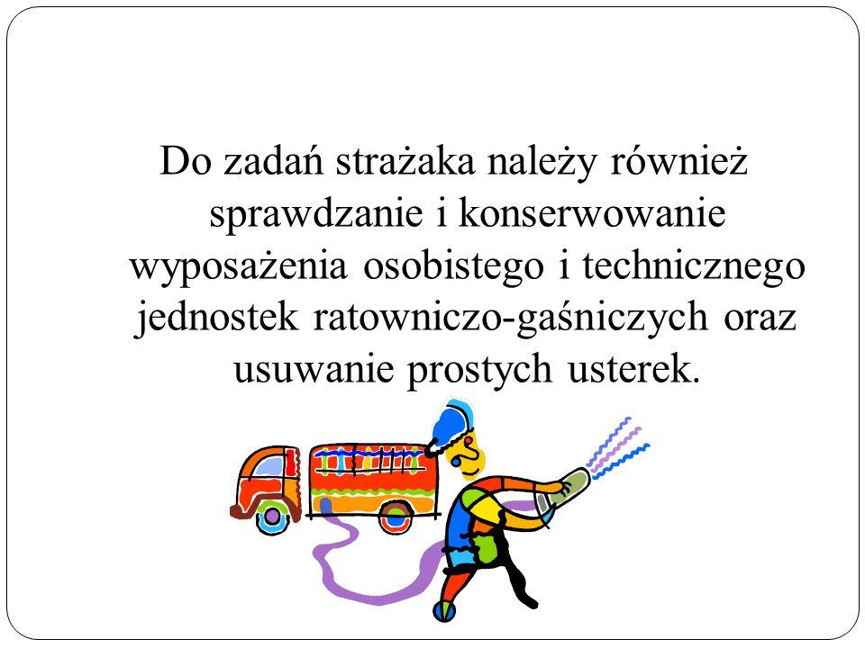 Środowisko pracy: Strażak pracuje w różnych miejscach pracy: - budynki ( pożary, katastrofy budowlane) - drogi ( katastrofy budowlane) - większe obszary ( pożary lasów, powodzie).