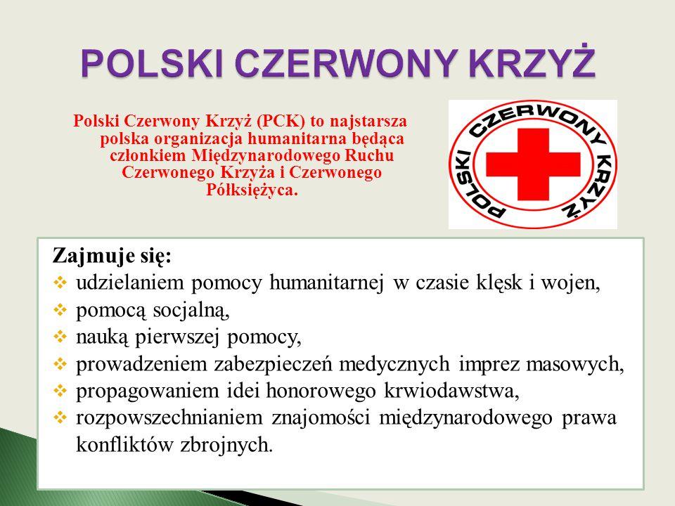 Polski Czerwony Krzyż (PCK) to najstarsza polska organizacja humanitarna będąca członkiem Międzynarodowego Ruchu Czerwonego Krzyża i Czerwonego Półksi