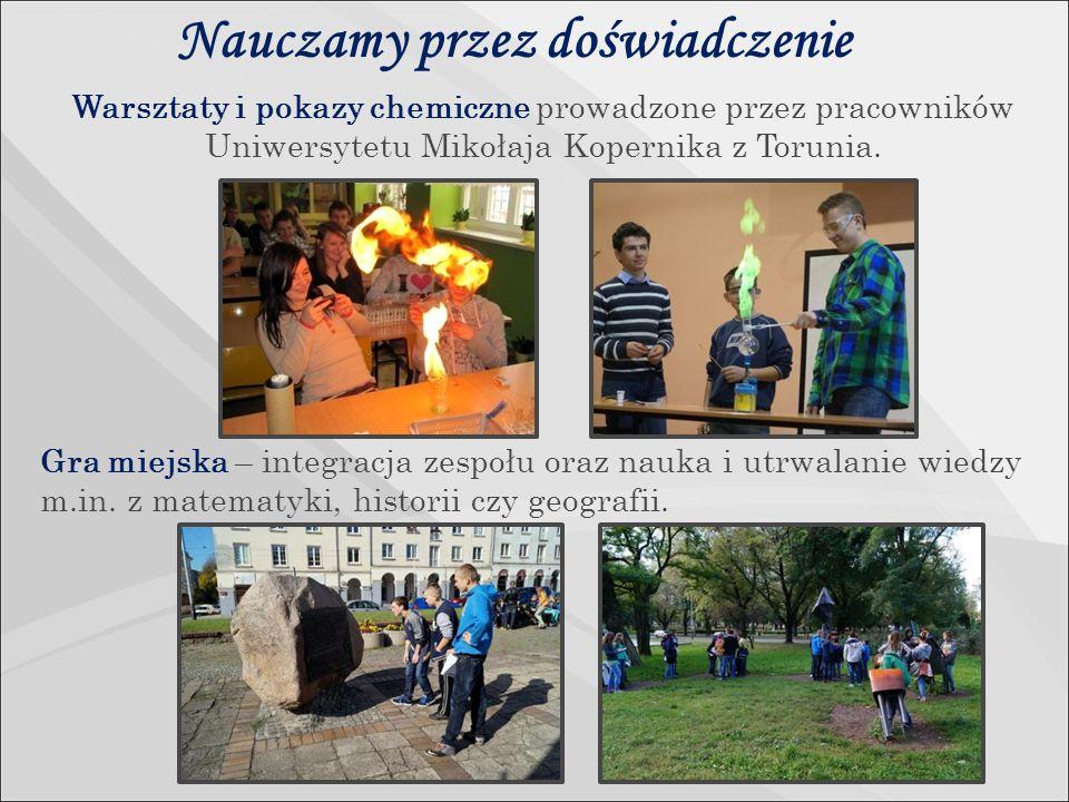 Nauczamy przez doświadczenie Warsztaty i pokazy chemiczne prowadzone przez pracowników Uniwersytetu Mikołaja Kopernika z Torunia.