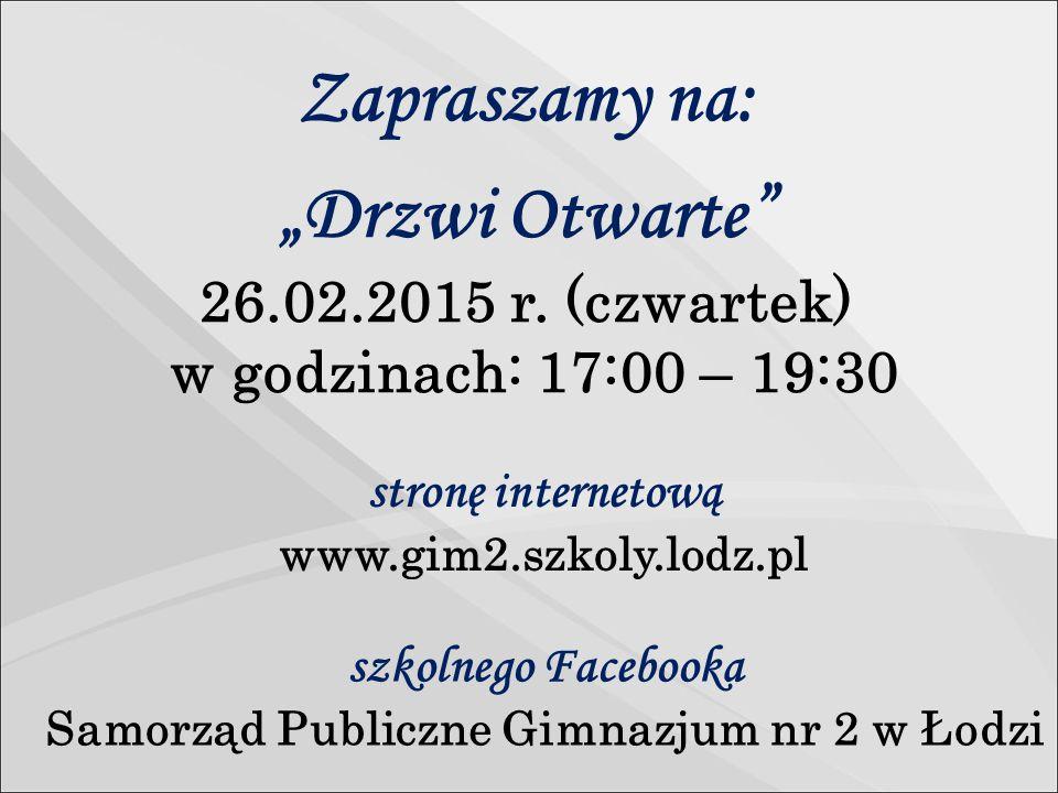 """""""Drzwi Otwarte 26.02.2015 r."""