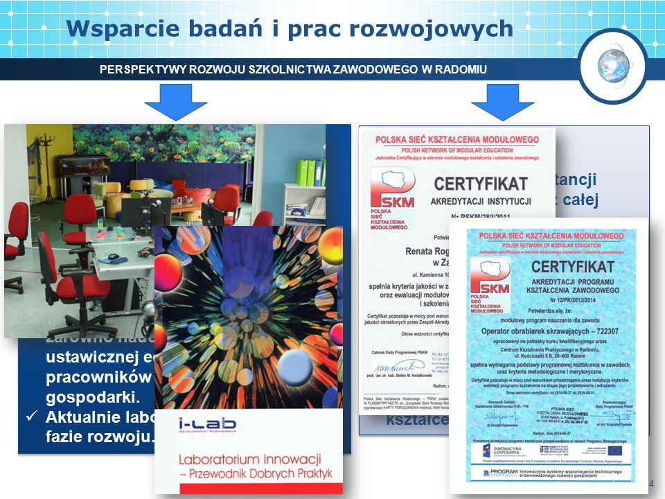 Wsparcie badań i prac rozwojowych 4 Laboratorium Innowacji (i-Lab) Miejsce wyzwalające kreatywność uczestników pracy grupowej (stacjonarnej i na odleg
