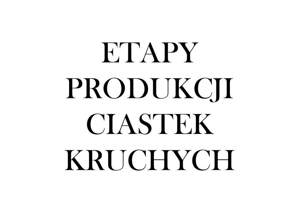 ETAPY PRODUKCJI CIASTEK KRUCHYCH