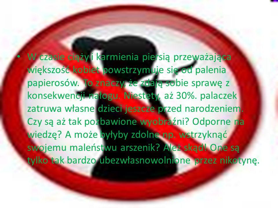 … W czasie ciąży i karmienia piersią przeważająca większość kobiet powstrzymuje się od palenia papierosów. To znaczy, że zdają sobie sprawę z konsekwe