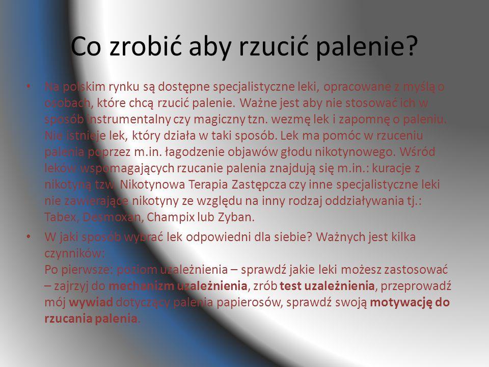 Co zrobić aby rzucić palenie? Na polskim rynku są dostępne specjalistyczne leki, opracowane z myślą o osobach, które chcą rzucić palenie. Ważne jest a