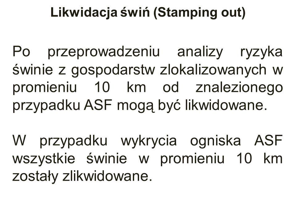 Po przeprowadzeniu analizy ryzyka świnie z gospodarstw zlokalizowanych w promieniu 10 km od znalezionego przypadku ASF mogą być likwidowane.
