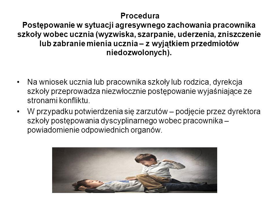 Procedura Postępowanie w sytuacji zagrożenia zdrowia lub życia.