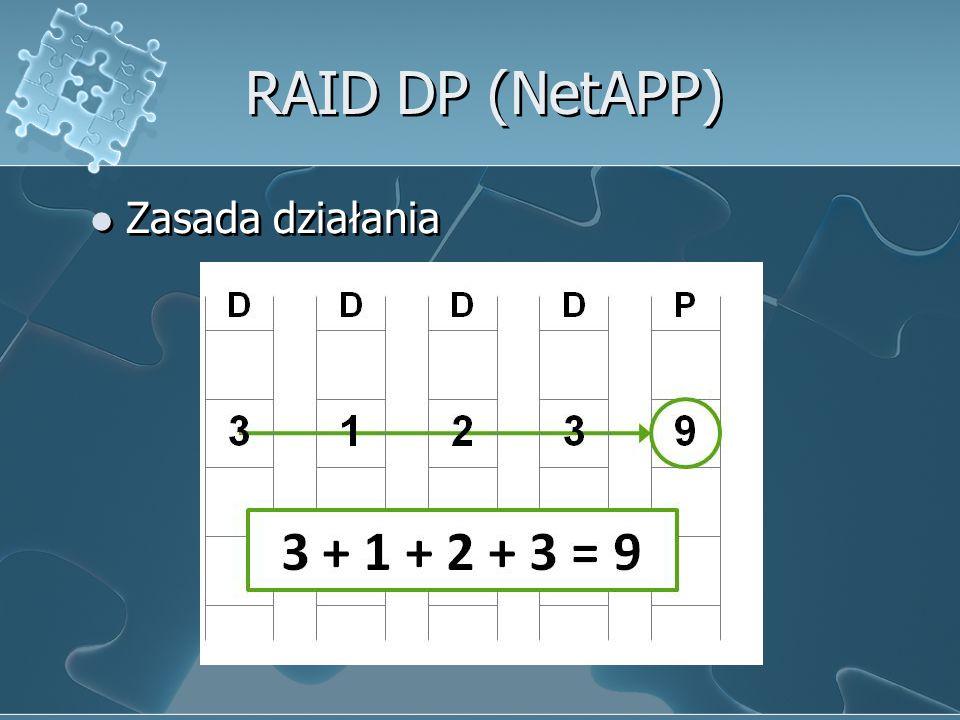RAID DP (NetAPP) Zasada działania
