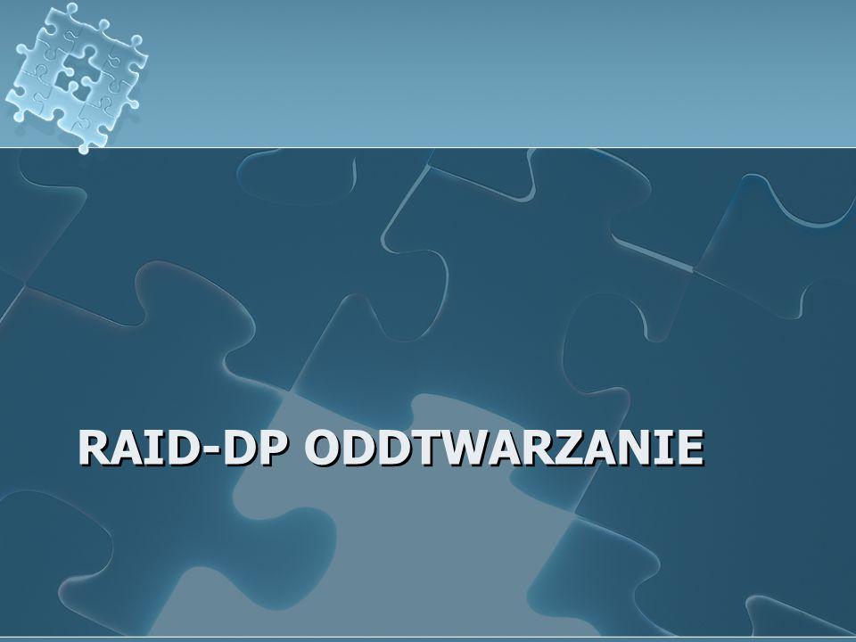 RAID-DP ODDTWARZANIE