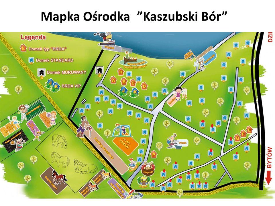 """Mapka Ośrodka """"Kaszubski Bór"""""""