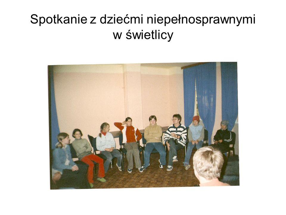 Spotkanie z dziećmi niepełnosprawnymi w świetlicy