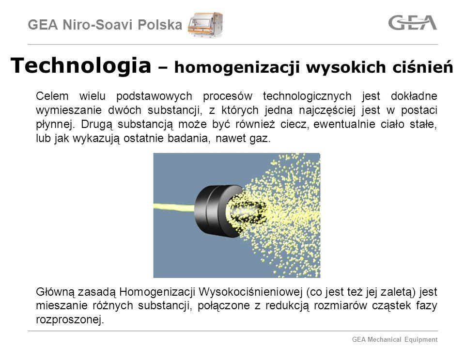 GEA Mechanical Equipment GEA Niro-Soavi Polska Obróbka wstępna - Surowców poddawanych suszeniu w przypadku suszenia jednorodność surowca ma znaczenie nie tylko dla jakości produktu, ale również ma znaczenie dla samego procesu suszenia.