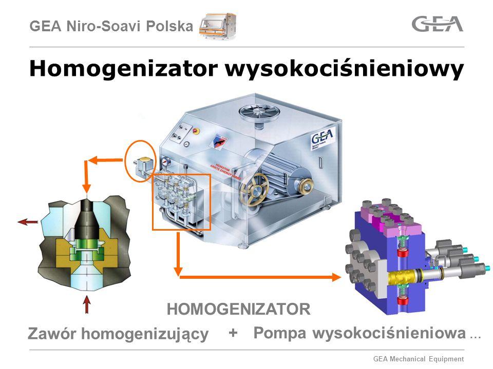 GEA Mechanical Equipment GEA Niro-Soavi Polska Homogenizator wysokociśnieniowy HOMOGENIZATOR Zawór homogenizujący Pompa wysokociśnieniowa … +