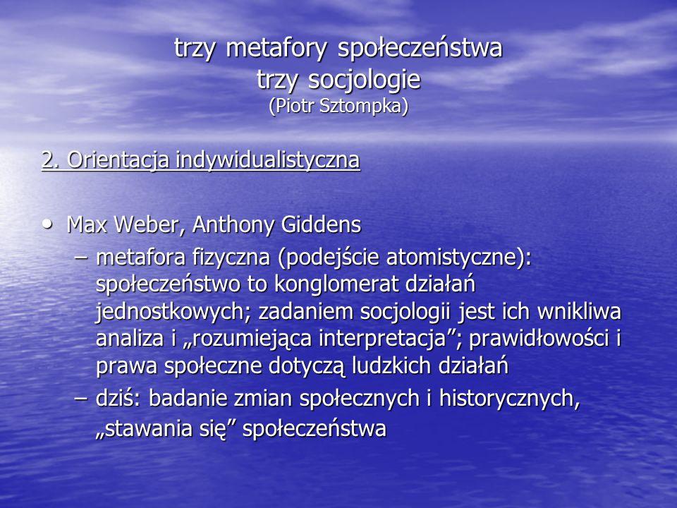 trzy metafory społeczeństwa trzy socjologie (Piotr Sztompka) 2.