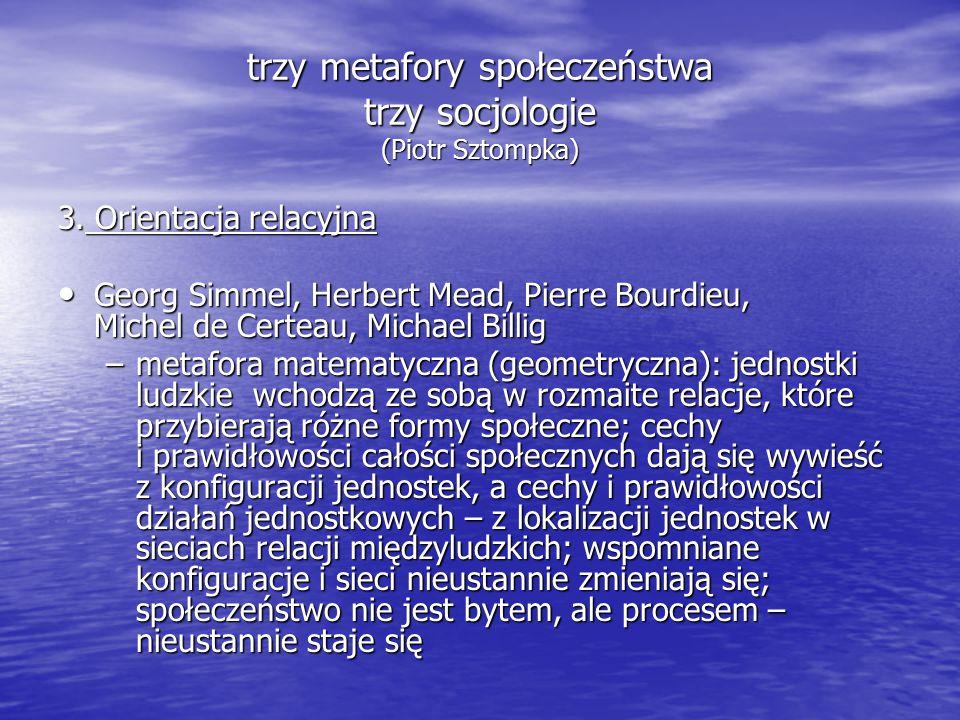 trzy metafory społeczeństwa trzy socjologie (Piotr Sztompka) 3.