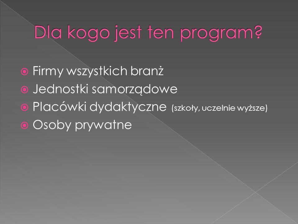  Firmy wszystkich branż  Jednostki samorządowe  Placówki dydaktyczne (szkoły, uczelnie wyższe)  Osoby prywatne
