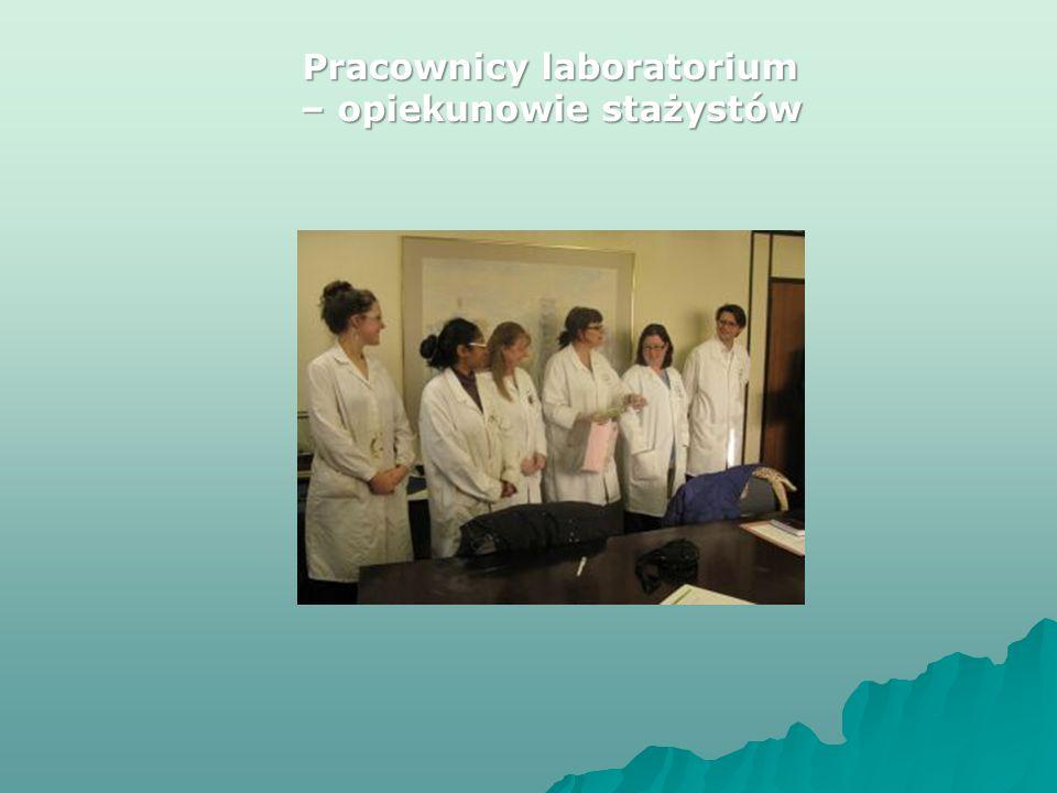 Pracownicy laboratorium – opiekunowie stażystów