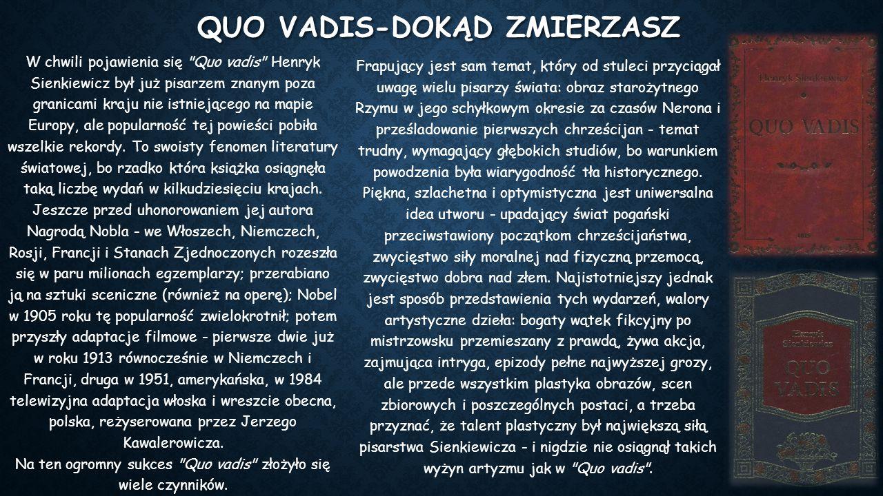 NOWELE Nowelistyczną twórczość Henryka Sienkiewicza (dominowała w jego pisarstwie do r.