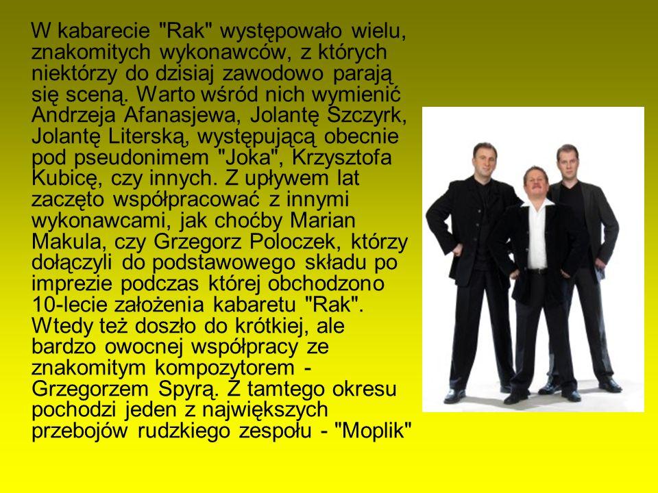 Przez kolejne lata bardzo dobrze układała się współpraca z kompozytorem i aranżerem - Stefanem Sendeckim, powstało wtedy wiele piosenek dla potrzeb telewizyjnego cyklu Zapiski Erwina Respondka , niektóre z tych utworów do dzisiaj są wykonywane podczas występów kabaretu Rak .