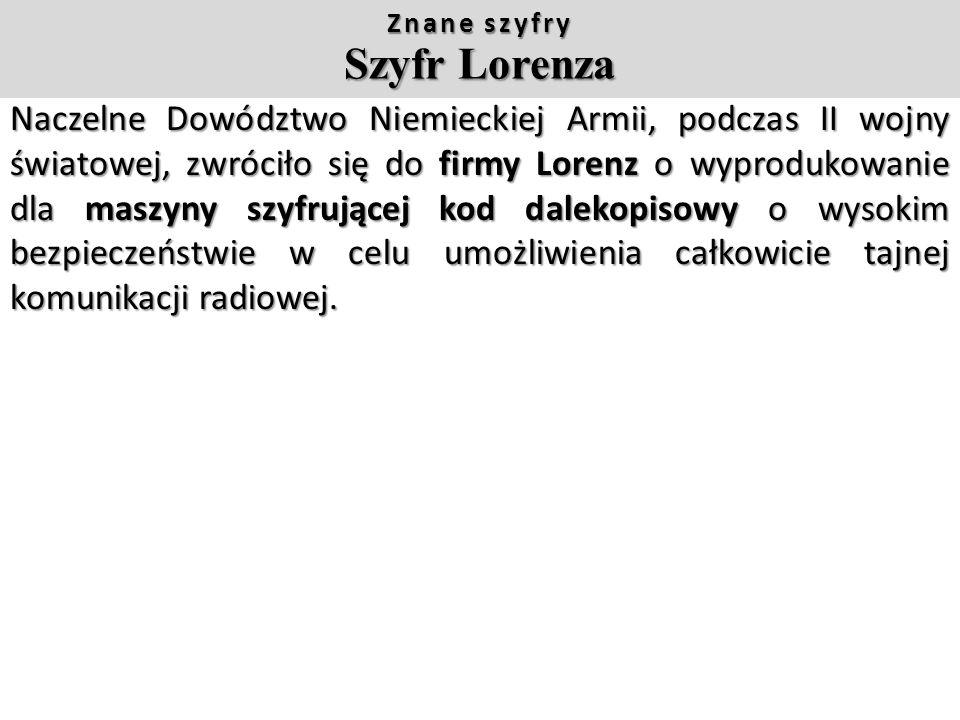 Znane szyfry SZYFR PLAYFAIRA Szyfr Playfaira, opiera się na tabeli 5 x 5 utworzonej ze wszystkich liter alfabetu. Literę I i J stosuje się zamiennie a