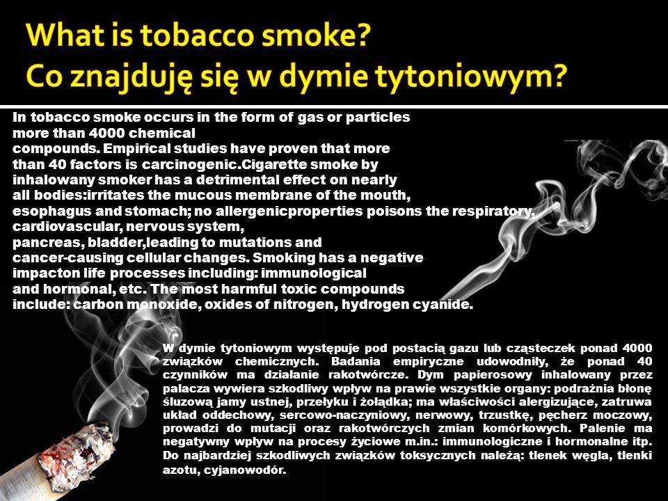 #Nicotine- shrinks the walls of blood vessels, thereby increasing blood pressure and causes abnormal rhythm of heartbeat.