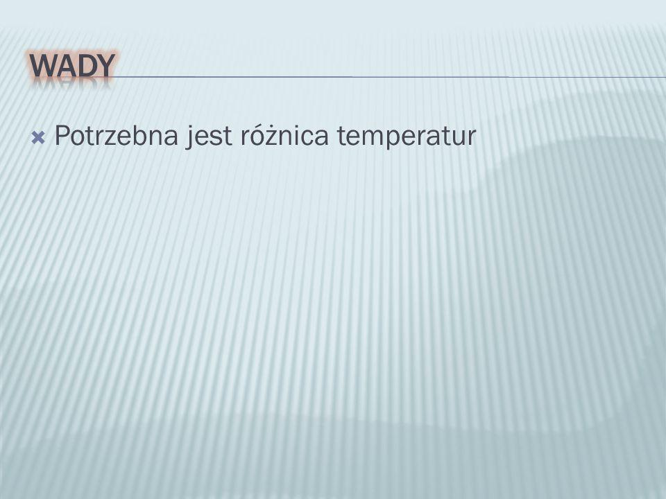  Potrzebna jest różnica temperatur